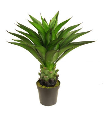 """30.5"""" Decorative Potted Artificial Green Agave Americana Succulent Plant"""""""