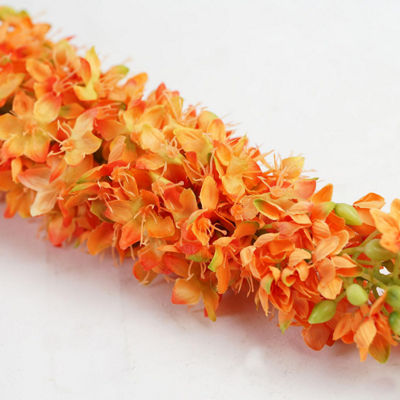 "48"" Orange and Green Artificial Foxtail Decorative Floral Crafting Stem"""