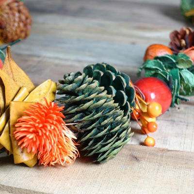 5' Autumn Harvest Pine Cones and Apples Artificial Garland Decoration