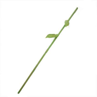 """59.5"""" Green Decorative Spring Floral Stem Rod"""""""