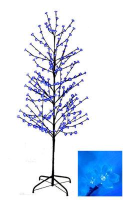 6' Enchanted Garden LED Lighted Cherry Blossom Flower Tree - Blue Lights