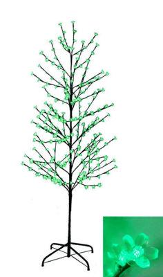 6' Enchanted Garden LED Lighted Cherry Blossom Flower Tree - Green Lights