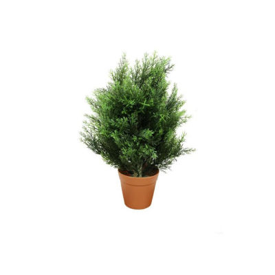 """21"""" Potted Two-Tone Artificial Cypress Plant"""""""