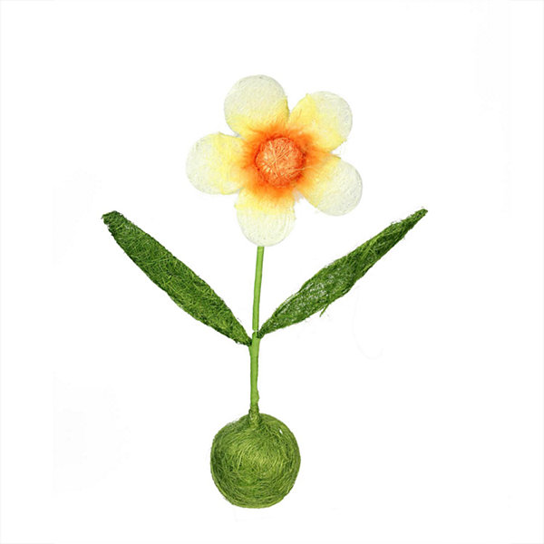 "19"" Green  Orange and Yellow Spring Floral Table Top Decoration"""