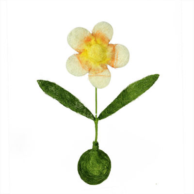 """19"""" Green  Yellow and Orange Spring Floral Table Top Decoration"""""""