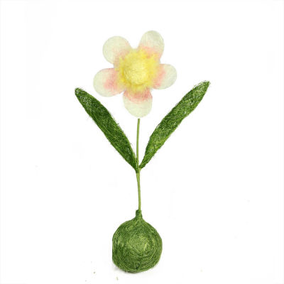 """19"""" Green  Yellow and Pink Spring Floral Table Top Decoration"""""""