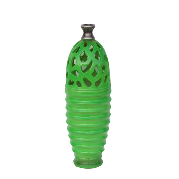 "15"" Decorative Outdoor Patio Cutout Vase"""