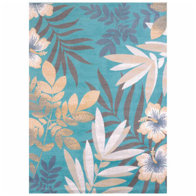 United Weavers Modern Textures Collection Sea Garden Rectangular Rug
