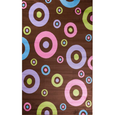 Concord Global Trading Alisa Collection Dots In Dots Rectangular Rug