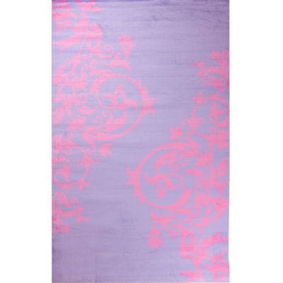 Concord Global Trading Alisa Collection Tatoo Scroll Rectangular Rug