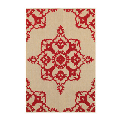 Covington Home Caribe Medallion Rectangular Indoor/Outdoor Accent Rug