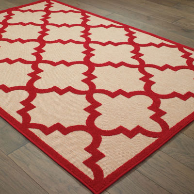 Covington Home Caribe Trellis Rectangular Rugs