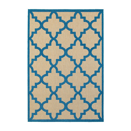 Covington Home Caribe Trellis Rectangular Indoor/Outdoor Rugs