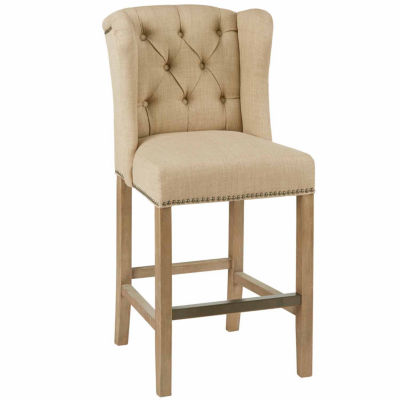 Madison Park Lydia Tufted Wing Counter Stool