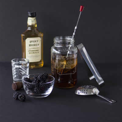 "Cathy's Concepts Personalized ""Pick Your Poison"" 6-pc. Mason Jar Mixology Set"