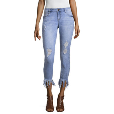 Project Indigo Fray Hem Skinny Jean