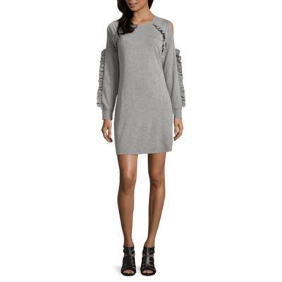 City Streets Cold Shoulder Sweater Dress