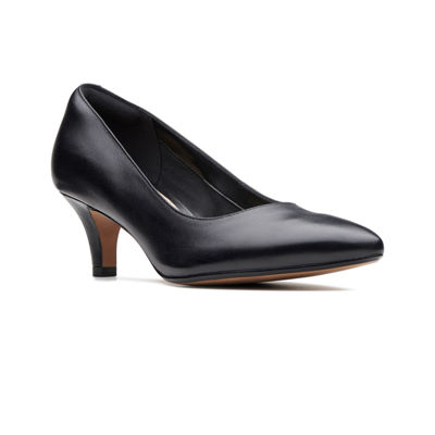 Clarks Womens Linvale Jerica Pumps Slip-on Pointed Toe Kitten Heel