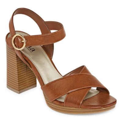 a.n.a Womens Primly Strap Open Toe Heeled Sandals