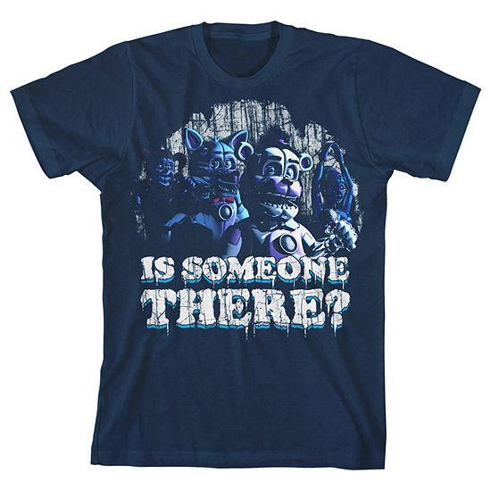 Boys Crew Neck Short Sleeve Five Nights at Freddys Graphic T-Shirt Preschool / Big Kid