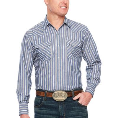 Ely Cattleman Strip Western Shirt - Big & Tall
