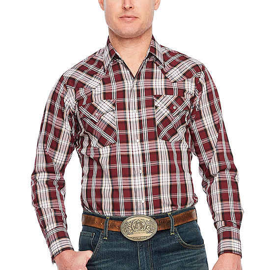 Ely Cattleman Plaid Western Shirt - Big & Tall