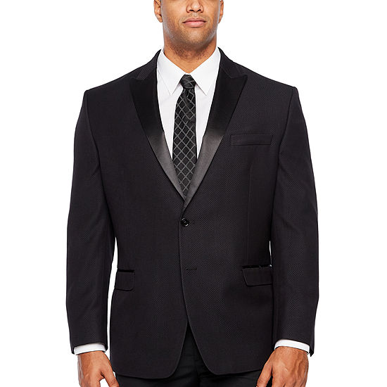 Collection by Michael Strahan Black Classic Fit Sport Coat - Big and Tall