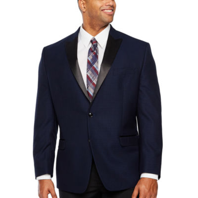 Collection by Michael Strahan Blue Jacquard Classic Fit Sport Coat - Big and Tall