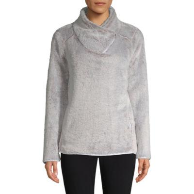 St. John's Bay Active Asymmetrical Zip Plush Pullover
