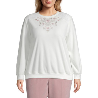 Alfred Dunner Home For The Holidays Floral Sweatshirt - Plus
