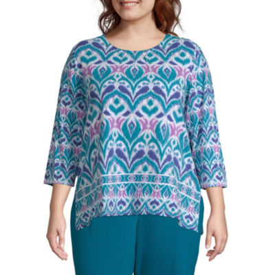 Alfred Dunner Comfortable Situation Scroll Tee - Plus
