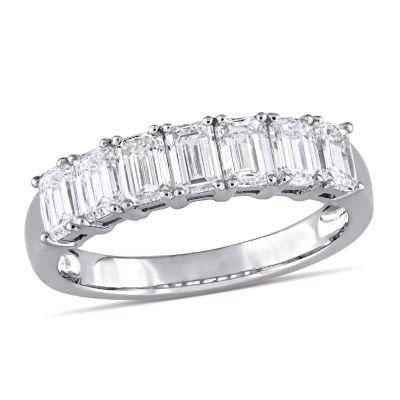 Womens 2.5mm 1 3/4 CT. T.W. Genuine White Diamond 14K White Gold Anniversary Band