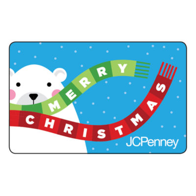 Merry Christmas Polar Bear Gift Card