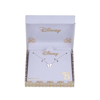 Disney Footnotes Womens Sterling Silver Mickey Mouse Pendant Necklace