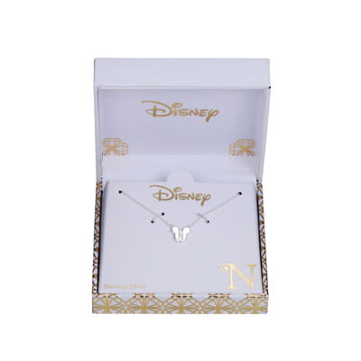 Disney Womens Sterling Silver Mickey Mouse Pendant Necklace