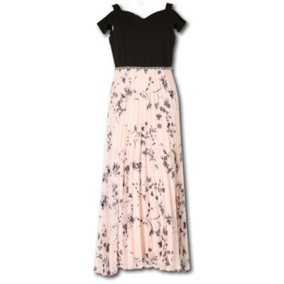 Speechless Embellished Short Sleeve Cold Shoulder Sleeve Maxi Dress - Big Kid Girls