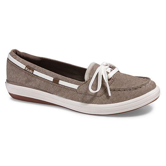 Keds Womens Charter Chambray Slip-On Shoe Round Toe