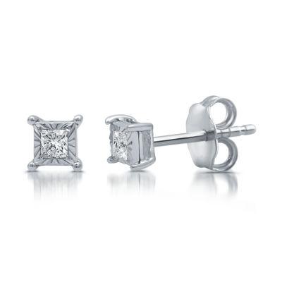 1/10 CT. T.W. Genuine White Diamond 5mm Stud Earrings