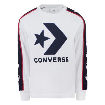 Converse Boys Crew Neck Long Sleeve Graphic T-Shirt-Big Kid