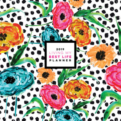 Tf Publishing 2019 Blooming Dots Large Monthly Planner