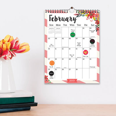 Tf Publishing 2019 Floral Monthly Wall Calendar