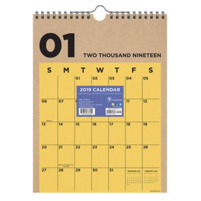 Tf Publishing 2019 Kraft Monthly Wall Calendar