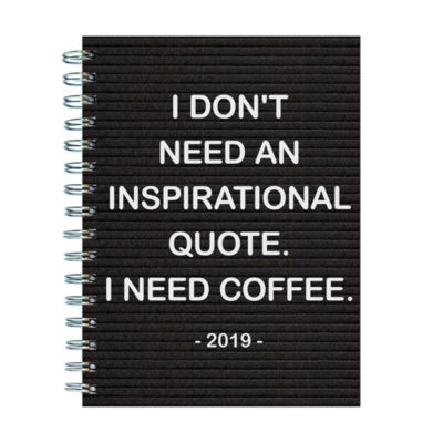 Tf Publishing 2019 Need Coffee Medium Weekly Monthly Planner