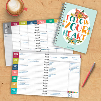 Tf Publishing 2019 Heart Medium Weekly Monthly Planner