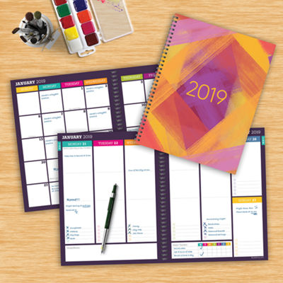 Tf Publishing 2019 Painted Colors Large Weekly Monthly Planner