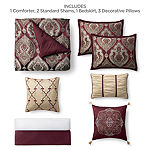 JCPenney Home Carson 7-pc. Jacquard Comforter Set