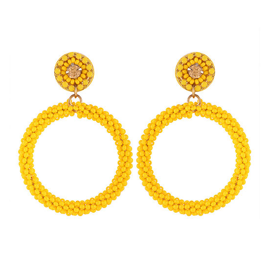 Bijoux Bar Yellow Seedbead Drop Earrings