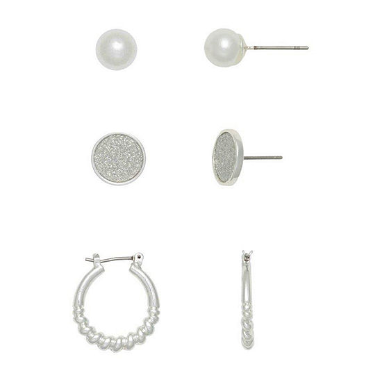 Mixit Hypoallergenic 3 Pair Earring Set