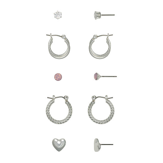 Mixit Hypoallergenic 6 Pair Earring Set