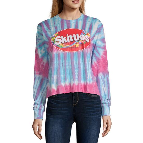 Mighty Juniors Womens Crew Neck Long Sleeve Sweatshirt